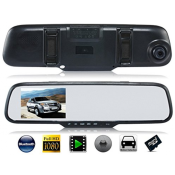 Auto kamera,retrovizor +rikverc kamera DVR